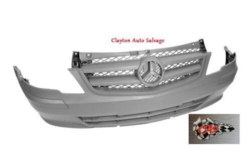 Textured W639 Front Bumper No Sensor Holes Mercedes Vito 2010-2015