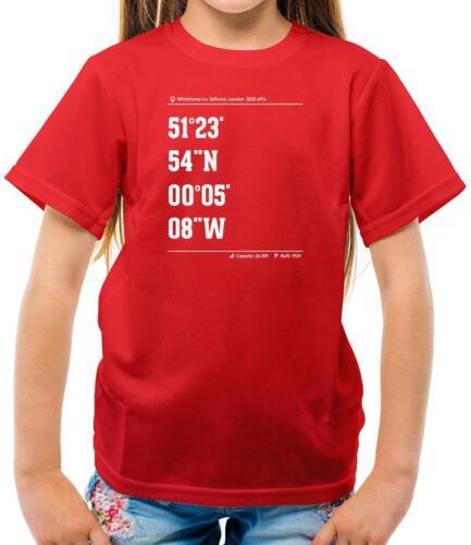 Stadium Coordinates The Eagles Team Football Kids T-Shirt Crystal Palace