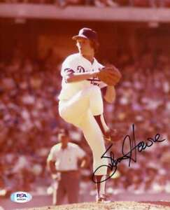 Steve-Howe-PSA-DNA-Coa-Hand-Signed-8x10-Dodgers-Photo-Autograph
