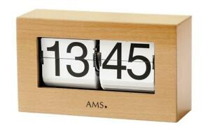 Table-Clock-Klappzahlenuhr-24h-Display-Wood-Look-Birch-Tree-21x12x7cm