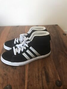 Details about Adidas Neo High Ankle Black Suede Trainers Ortholite Insoles Size UK 5.5/US 7