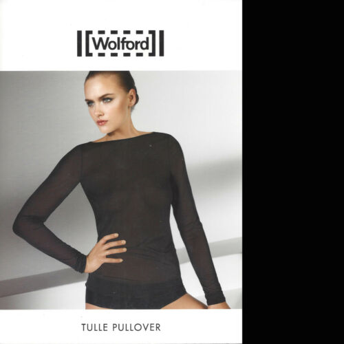 Pullover S Wolford Tulle Geschnittener Black lang Lässig 1HU1vPqwx