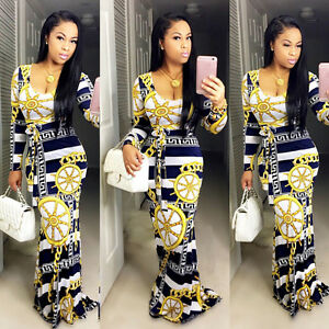 2016-New-Women-Printed-Long-Sleeve-Bodycon-Maxi-Clubwear-Party-Cocktail-Dress