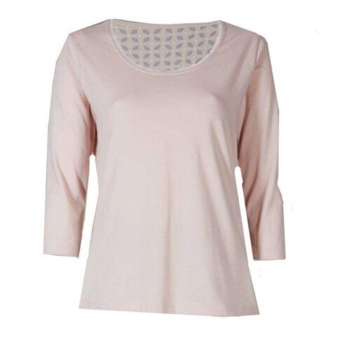 Ex Marks and Spencer 3//4 Sleeve Pyjama Top Size 6-14 P99.12