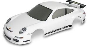 Carson 1:10 Kaross. Porsche 911 Gt3 Blanc + Décor #500800059-afficher Le Titre D'origine PréParer L'Ensemble Du SystèMe Et Le Renforcer