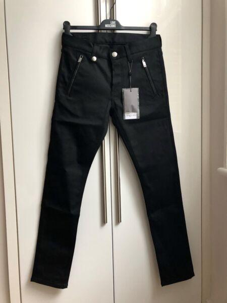 100% Autentico Alexander Mcqueen Tecno Drill Stretch Skinny Biker Jeans W 30 £ 495 Qualità Eccellente