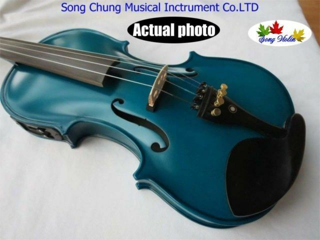 Excellent SONG Brand bluee colors electric & acoustic violin 4 4