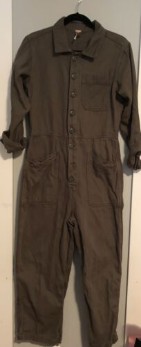Free People Green One Piece Utility Coverall Jumps