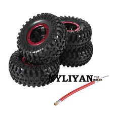 "2.2"" Crawler Inflatable Pneumatic Tires&Alloy Beadlock Wheels For 1/10 SCX10 Car"