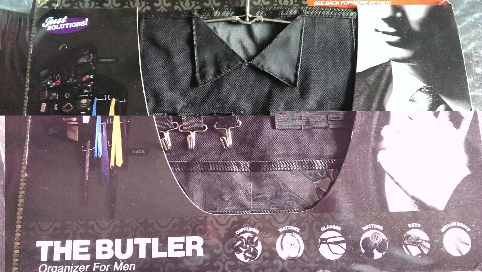 2x The Butler Organizer For Men Ties Belts All Accessories In One Place New