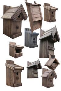 nistkasten boxen f r v gel gro e auswahl vogelhaus aus holz p rosenholz ebay. Black Bedroom Furniture Sets. Home Design Ideas