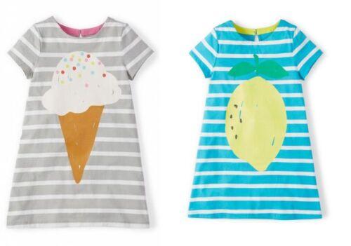 MINI BODEN GIRLS CUTE ICE CREAM PEAR.LEMON SUMMER COTTON DRESS AGES 1-12