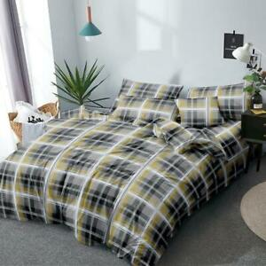 All Size Bed Ultra Soft Quilt Duvet Doona Cover Set Bedding Denim Check