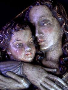 grosse-Wand-Keramik-SK-TYROL-Maria-mit-Jesuskind-Stil-Bozener