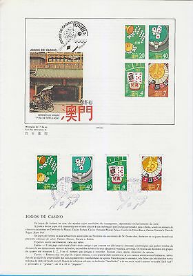 Macau China stamp PGS #029 1987 Casino Gambling MO137615