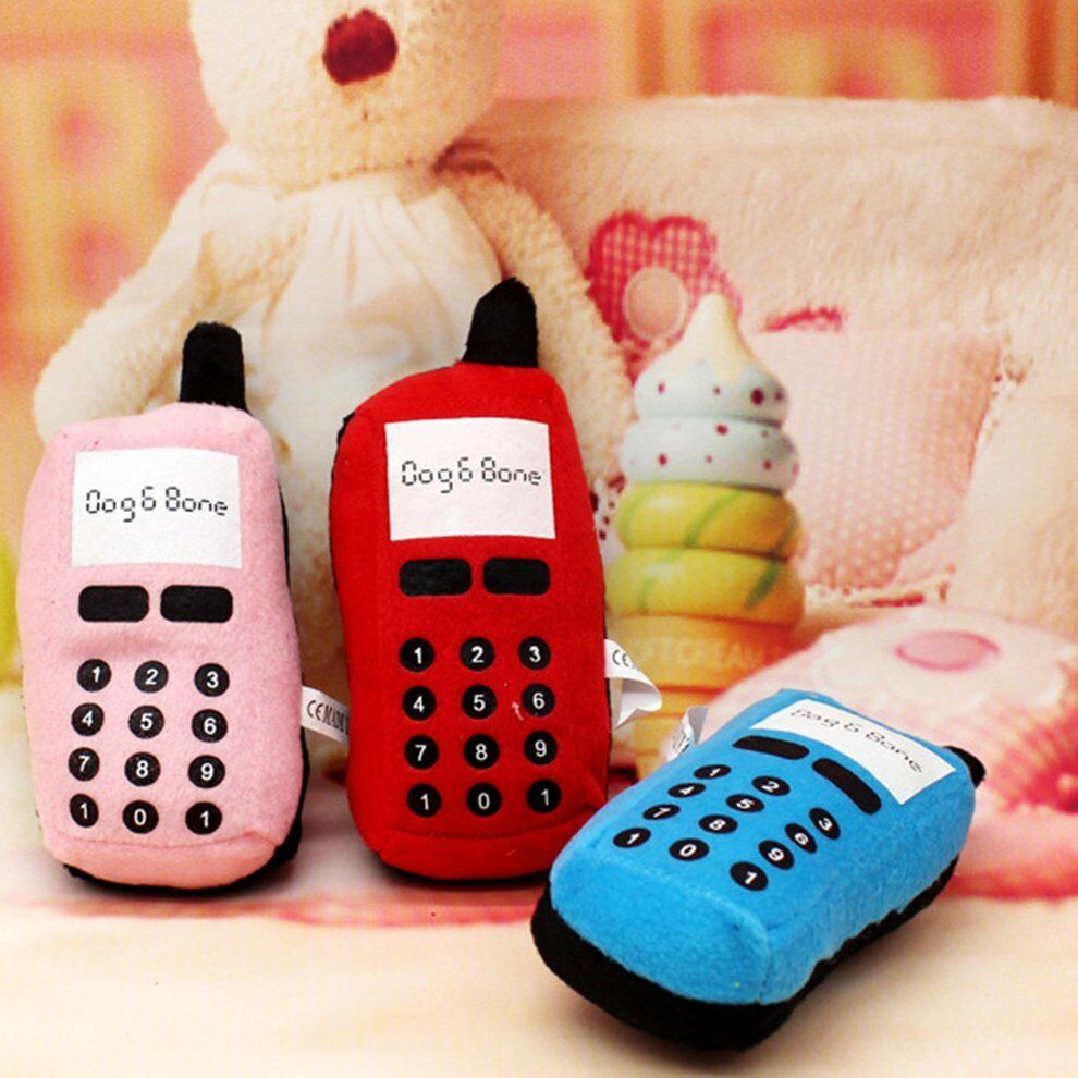 Details about Mobile Phone Shape Pet Toys Puppy Dog Toy Plush Sound Squeaky Toy for Pet BB wX
