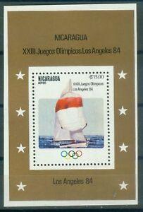 Nicaragua-Block-147-Olympische-Spiele-1984