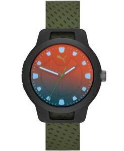 Orologio-Uomo-PUMA-RESET-P5011-Silicone-Verde-Nero-Sportivo-Colorato