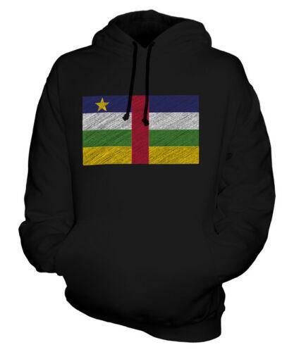 République Drapeau À Unisexe Africaine Sweat Griffonnage Central Capuche ZU5Rw1
