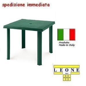 Tavolo in plastica da giardino cm79 x cm79 h cm72 colore verde modello figaro ebay - Tavolo da giardino in plastica ...