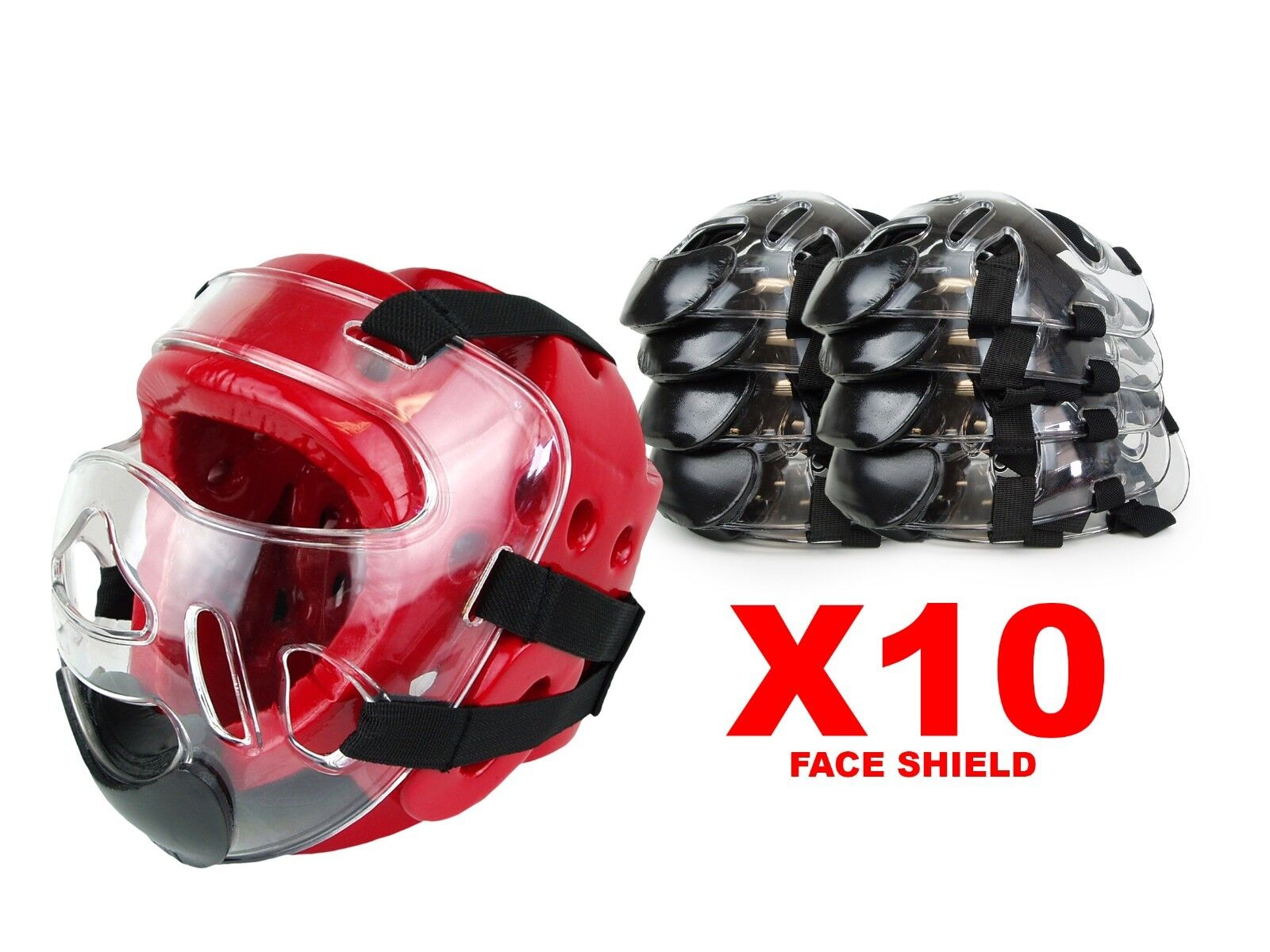 X10 NEW Martial Arts Clear Mask Face Shield for Sparring  Head Gear  unique design