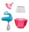 Barbie BAKING Accessories Set Pink Tablespoon Set Mixer Cake  Bowl NIP