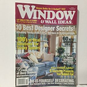 Details about Country Decorating Ideas Magazine #32 Window & Wall Ideas  Free Ship Illust