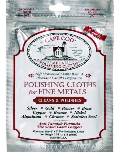 1 Pack de 2 chiffons montres Cape Cod en métal Fine polissage chiffon bijoux