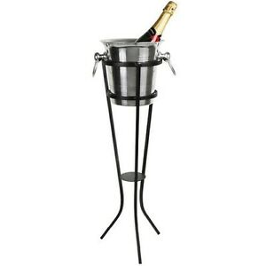Image Is Loading Wrought Iron Champagne Ice Bucket Stand Holder