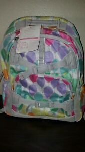 New W Tags Pottery Barn Kids Large Backpack Colorful