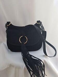 a93f83be6d19 INC International Concepts Black Tassle Crossbody bag 765729171140 ...