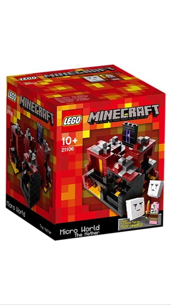 NEW LEGO MINECRAFT THE NETHER Set 21106 sealed CUUSOO MICRO WORLD red box nisb
