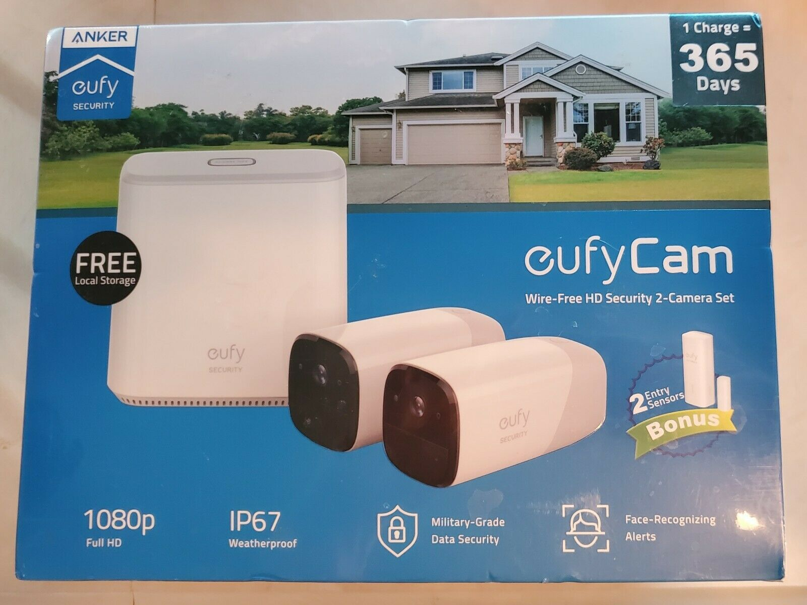 eufy Security eufyCam 2 Wireless Home Security Camera System, 365-Day Battery ++. Buy it now for 229.00