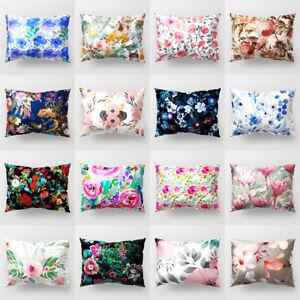 Am-BG-Flower-Floral-Rectangle-Pillow-Case-Sofa-Cushion-Cover-Home-Cafe-Decorat