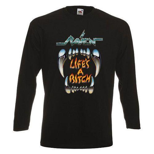 RAVEN LIFE/'S A BITCH/'87 Long Sleeve T-shirt  Rock Band Shirt Long Sleeve Tee