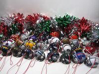 32 TEAM NFL FOOTBALL HELMET CHRISTMAS ORNAMENT SET