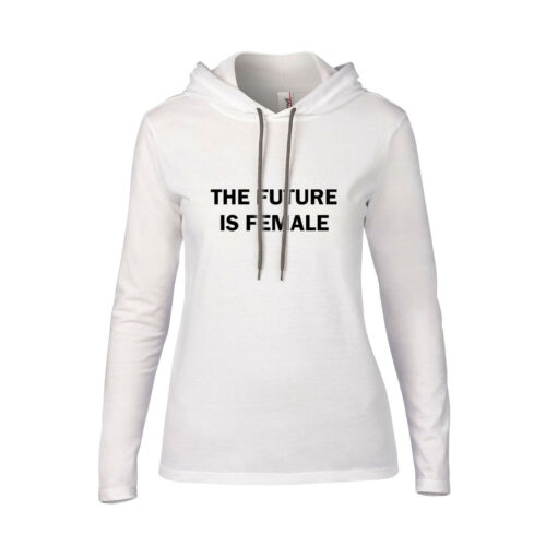 The Future Is Female Fashion HOODED T-SHIRT Feminism Tumblr Smash The Patriarchy