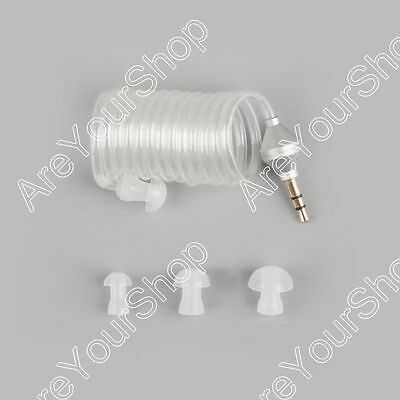 1Pcs 3.5mm Security Curve Covert Acoustic Tube Headset For MP3 Phone White