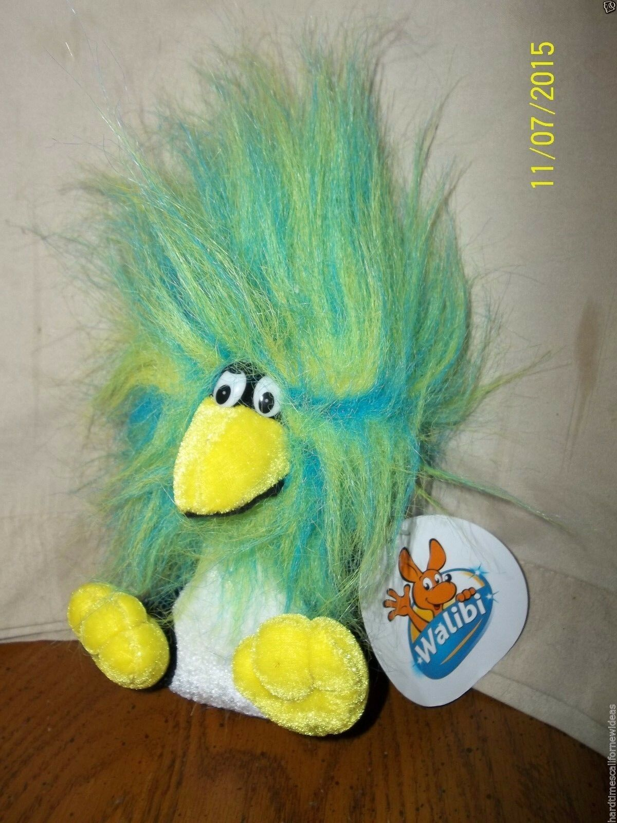 Walibi Penguin Hairy Bird Plush With Tag