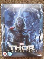 Thor 2 The Dark World Lenticular Magnet 3d/2d Blu-ray Steelbook Region Free