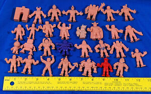 LOT Mattel M.U.S.C.L.E Men Toy VTG Robot Cowboy Monster in Pocket Purple Red 30