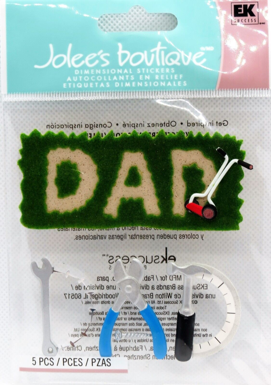 FATHERS DAY DIMENSIONAL STICKER NUMBER 1 DAD JOLEE/'S BOUTIQUE