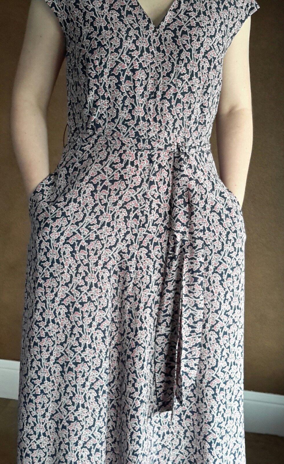NWT Weekend MaxMara Size 14US Gerarda Summer Maxi Silk Flower Dress Orig.575