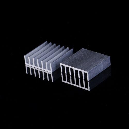 10Pc Aluminum 20X20X6Mm Ic Led Cooling Cooler Heatsink Heatsinks With Tape Set4H