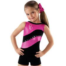 NEW Gabby Foil Velvet Rhinestones Dance Gymnastics Unitard Biketard Leotard