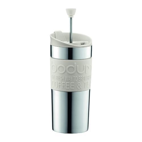 0.35 L//12 OZ BLANC Bodum Travel French Press Cafetière Set en acier inoxydable