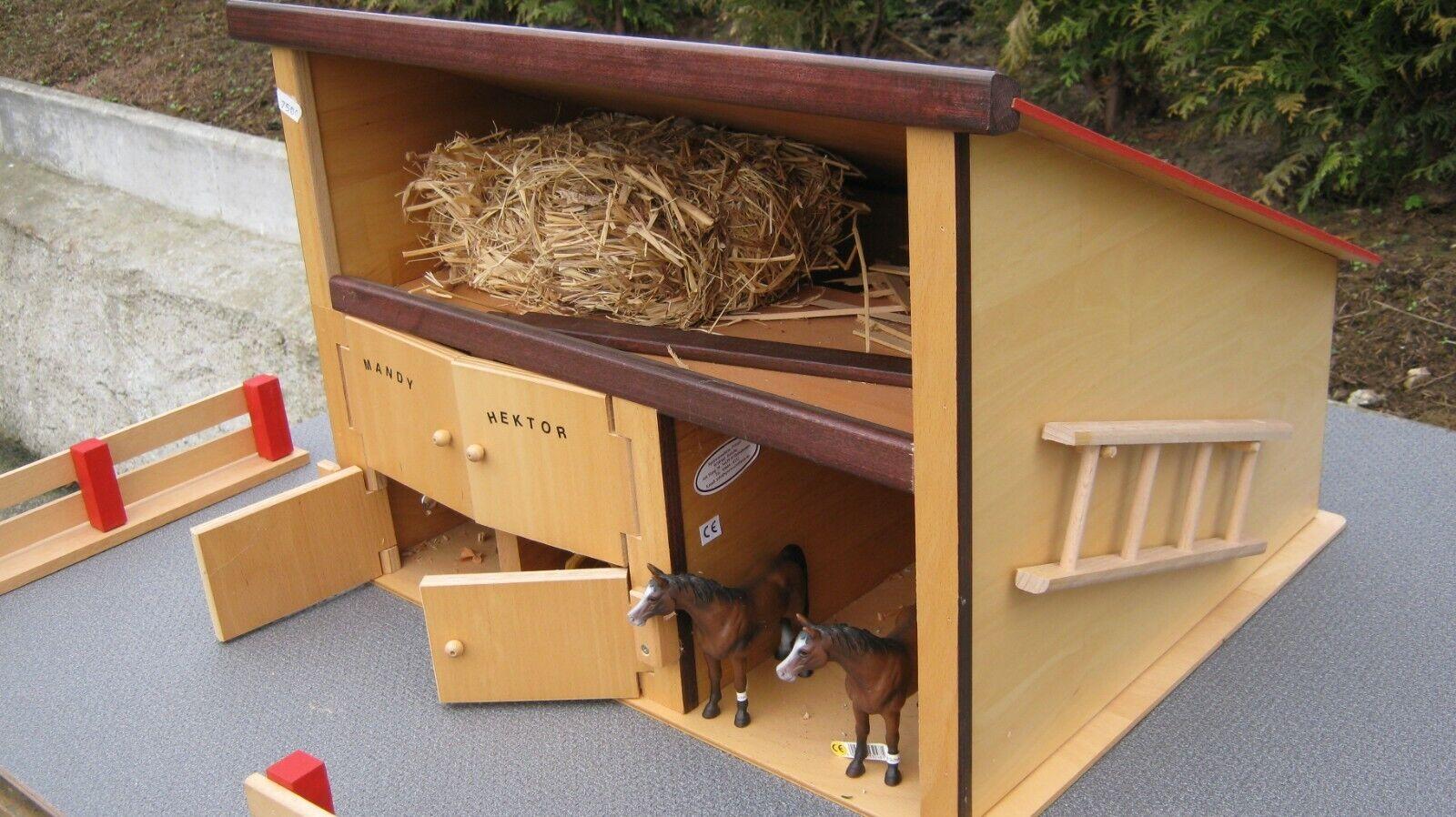 Pferdehof pferdestall holzspielzeug bauernhof stall (holz keine pappe)