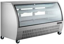 Xiltek Commercial Curved Glass Refrigerated Deli Case Display