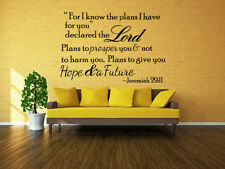 Elegant Bible Verse Wall Decals Christian Quote Vinyl Wall Art Stickers Religious  Decor