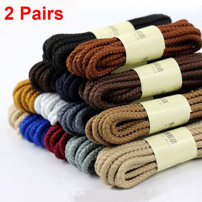 One Pair Round Strong Boot Laces Hiking Walk Bootlaces Shoelaces Various Length